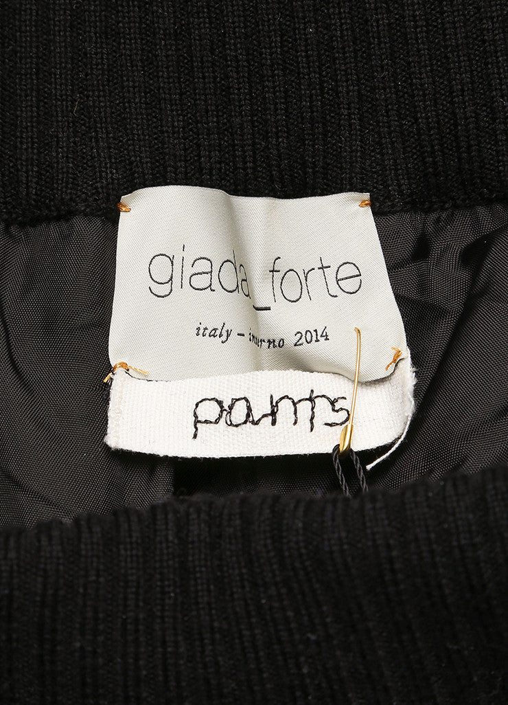 "Giada Forte New With Tags Black and White Knit Tweed ""Notte"" Jogging Pants Brand"
