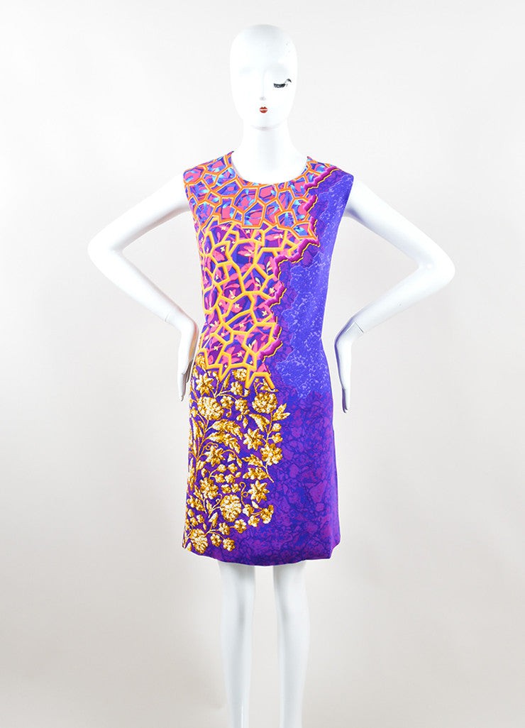 Peter Pilotto Multicolor Printed Sleeveless Shift Dress Frontview