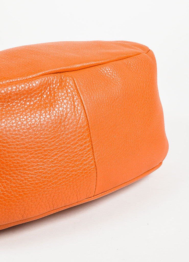 "Prada Burnt Orange Grained Leather ""Vitello Daino"" Hobo Bag Bottom View"