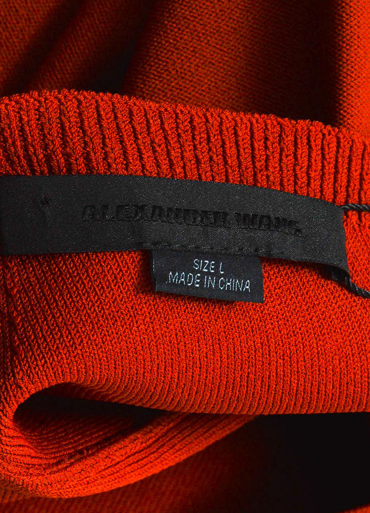 í_í_Œ¢í_?çí_í_Alexander Wang Rust Red Stretch Knit Exposed Seam Short Sleeve Bodycon Dress Brand