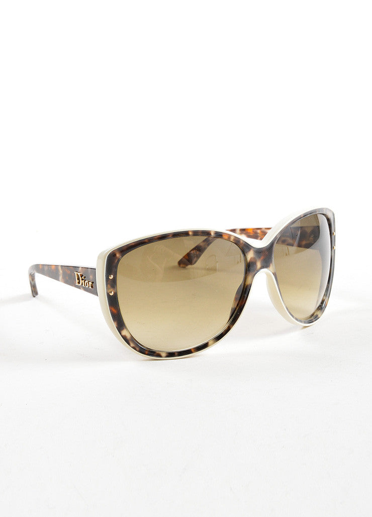 "Christian Dior Brown Camouflage Oversized ""Bengale"" Sunglasses Sideview"