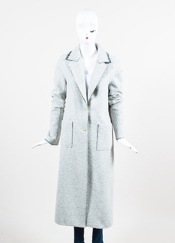 "Hellessy Grey Boucle ""Spiro"" Long Coat Frontview 2"