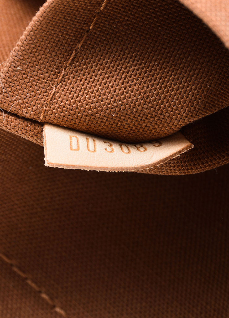 "Brown and Tan Louis Vuitton Monogram Coated Canvas ""Beaubourg GM"" Messenger Bag Date Code"