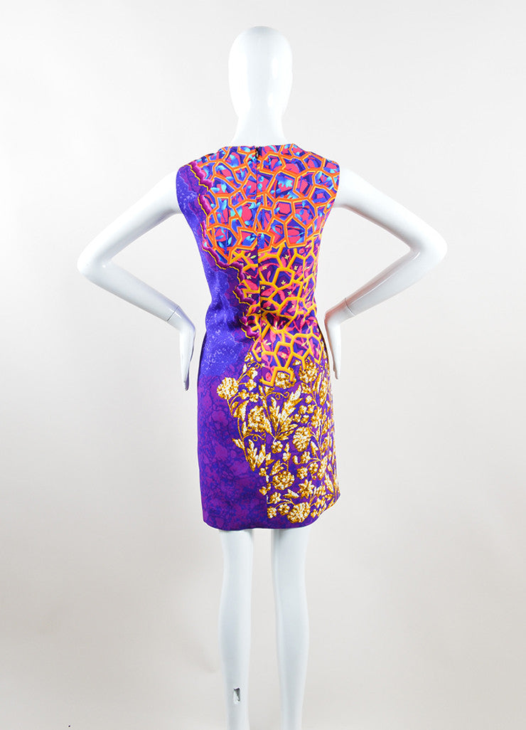 Peter Pilotto Multicolor Printed Sleeveless Shift Dress Backview