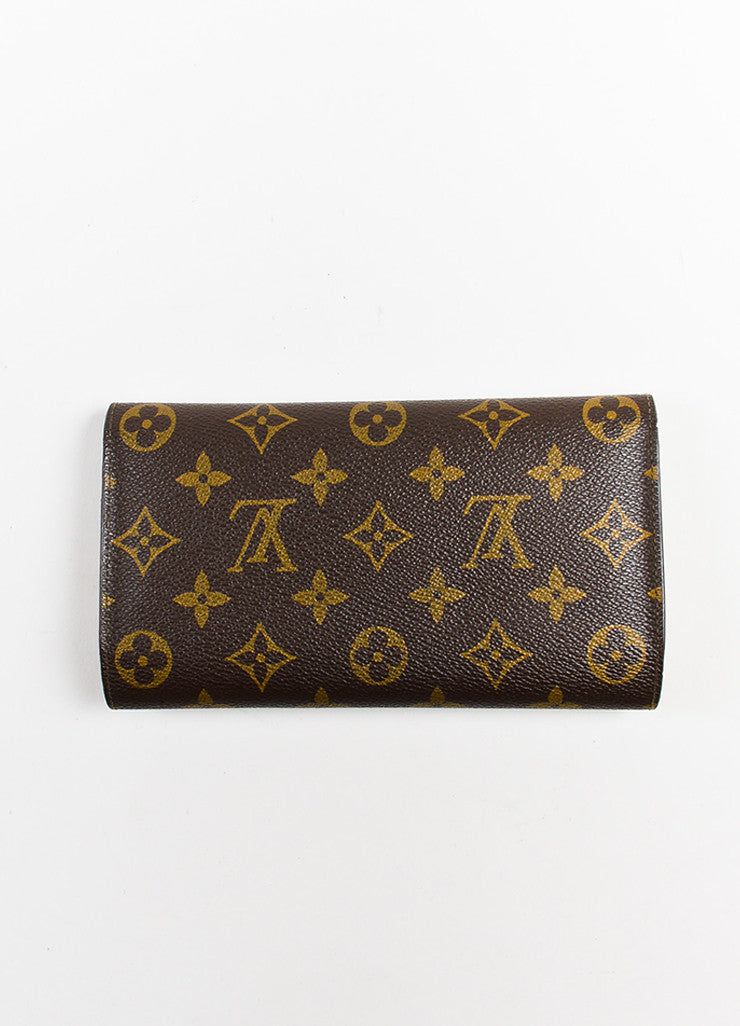"Brown Louis Vuitton Canvas ""Porte-Tresor International"" Wallet Back"
