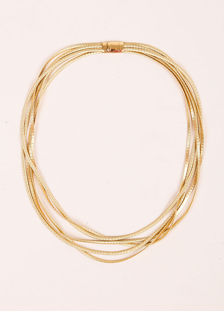 Marco Bicego 18K Gold Textured Multistrand Necklace Frontview
