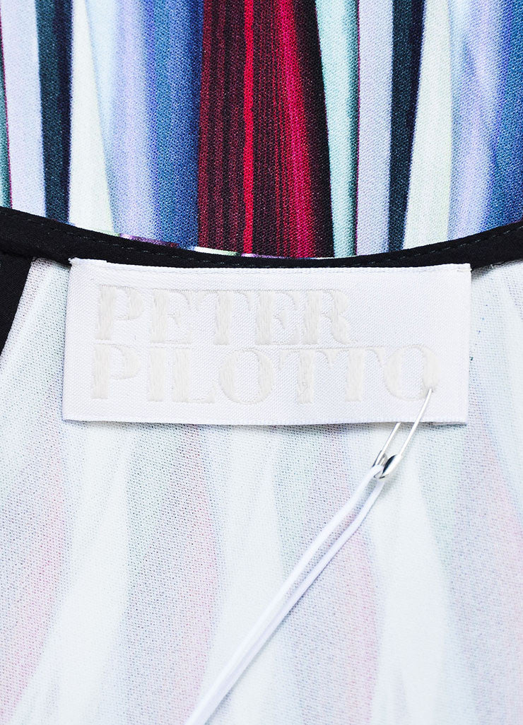 Multicolor ¥éËPeter Pilotto Striped Relaxed Short Sleeve Top Brand