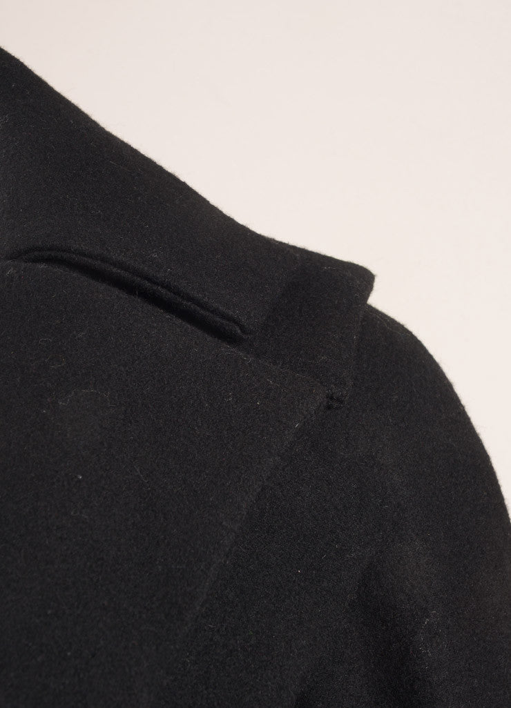 Anne Fontaine Black Layered Collar Jacket Detail