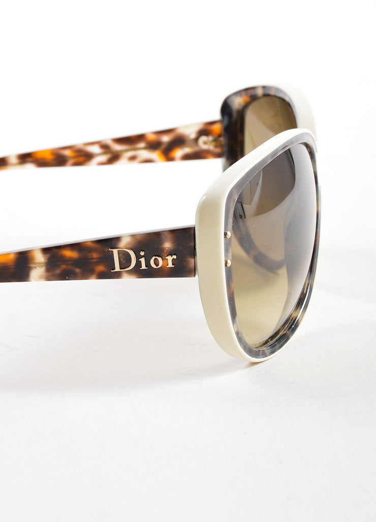 "Christian Dior Brown Camouflage Oversized ""Bengale"" Sunglasses Detail"