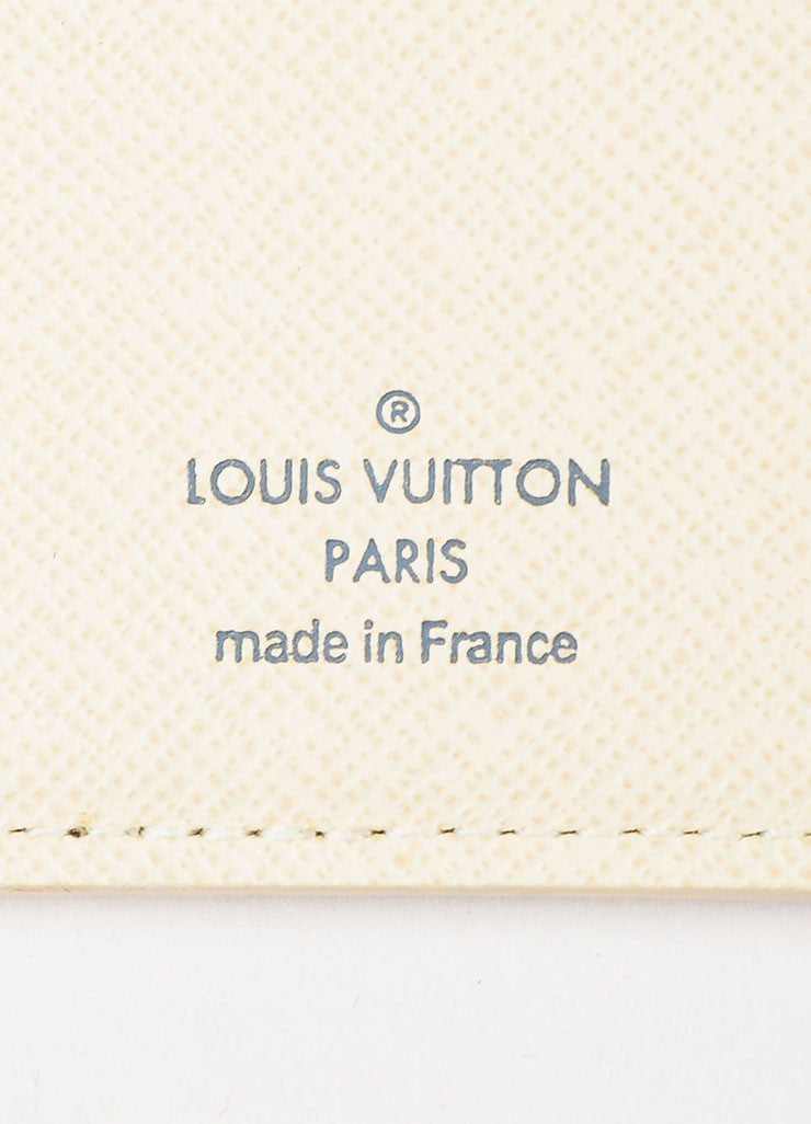 Louis Vuitton White and Navy Coated Canvas Damier Azur Print Pocket Organizer Brand