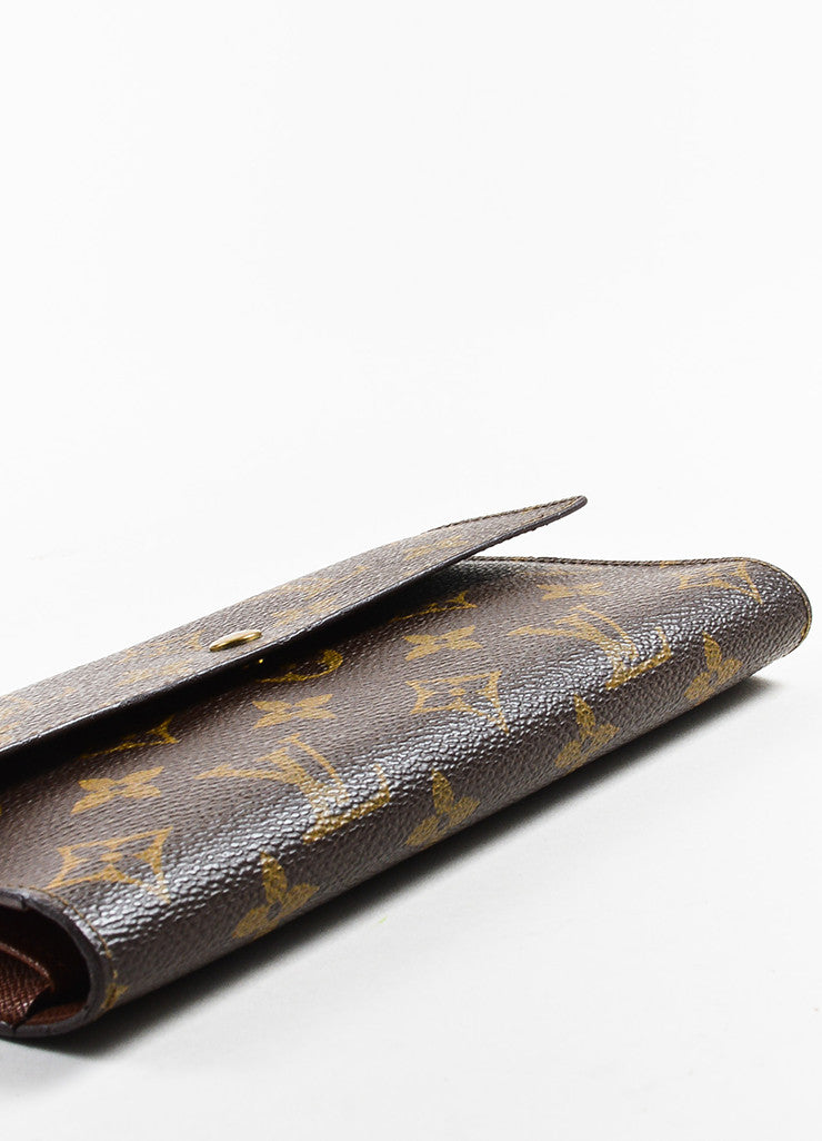 "Brown Louis Vuitton Canvas ""Porte-Tresor International"" Wallet Detail"