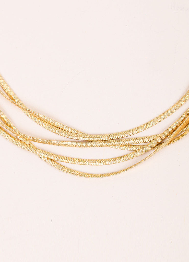 Marco Bicego 18K Gold Textured Multistrand Necklace Detail
