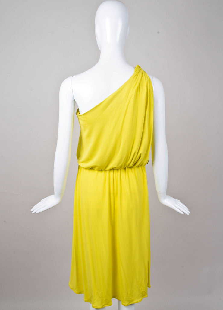 New One Shoulder Slinky Knit Dress