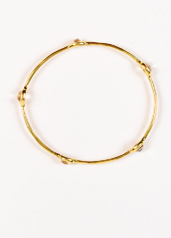"Ippolita 18K Yellow Gold Quartz ""Rock Candy"" Bangle Bracelet Topview"