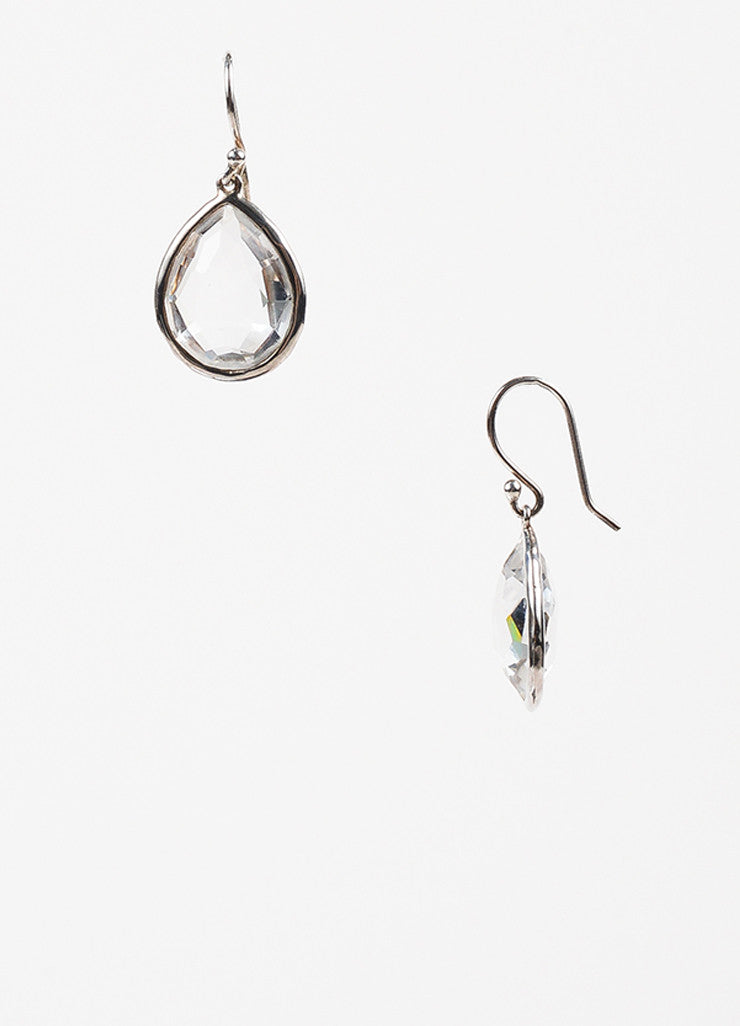 "Ippolita Sterling Silver Clear Quartz ""Rock Candy"" Teardrop Dangle Earrings Sideview"