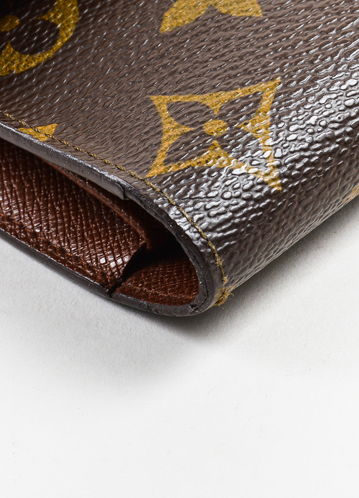 "Brown Louis Vuitton Canvas ""Porte-Tresor International"" Wallet Detail 2"
