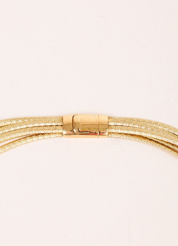 Marco Bicego 18K Gold Textured Multistrand Necklace Detail 2
