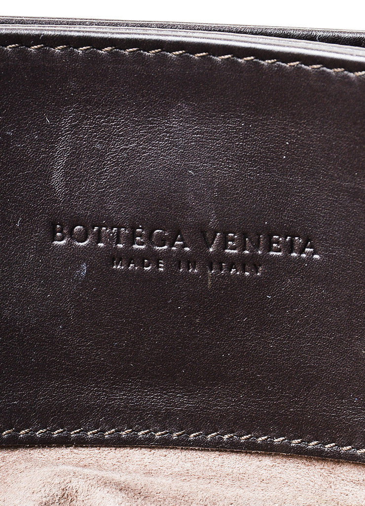 "Brown Bottega Veneta Calf Leather Intrecciato ""Roma"" Tote Bag Brand"