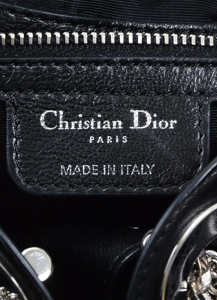 "Black Leather Christian Dior ""Le Trente Cannage Medium Shopping"" Handbag Brand"