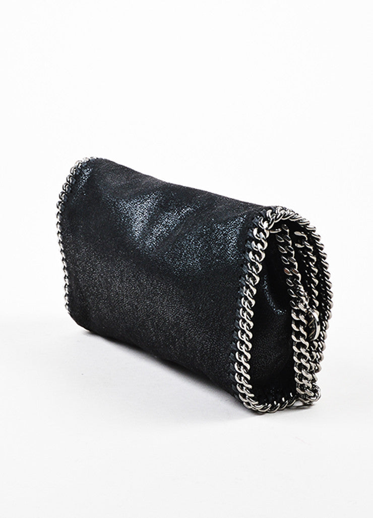 "Stella McCartney Black ""Falabella Shaggy Deer"" Crossbody Pochette Sideview"