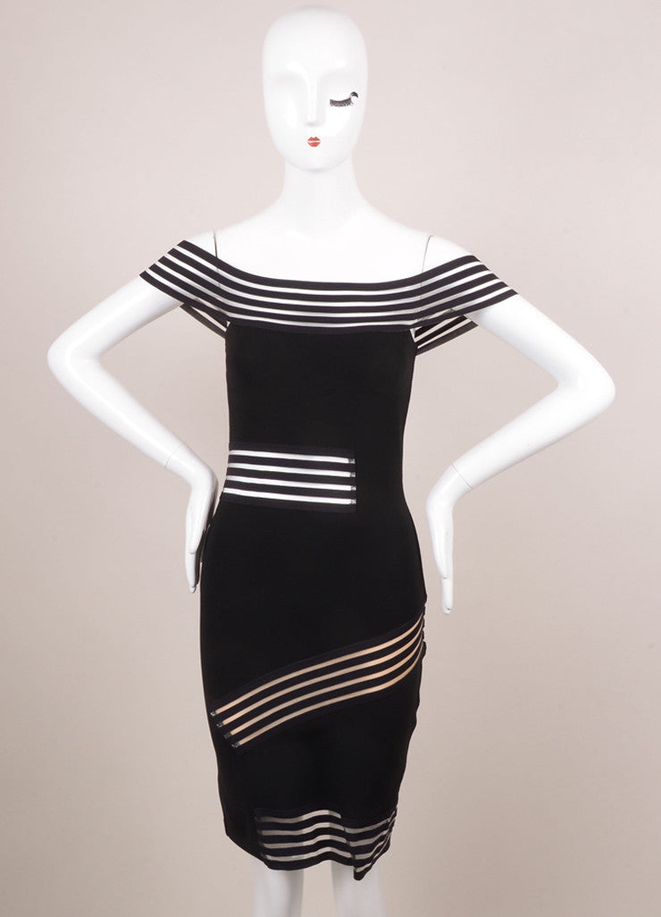 Christopher Kane New With Tags Black Fitted Cut Out Dress Frontview