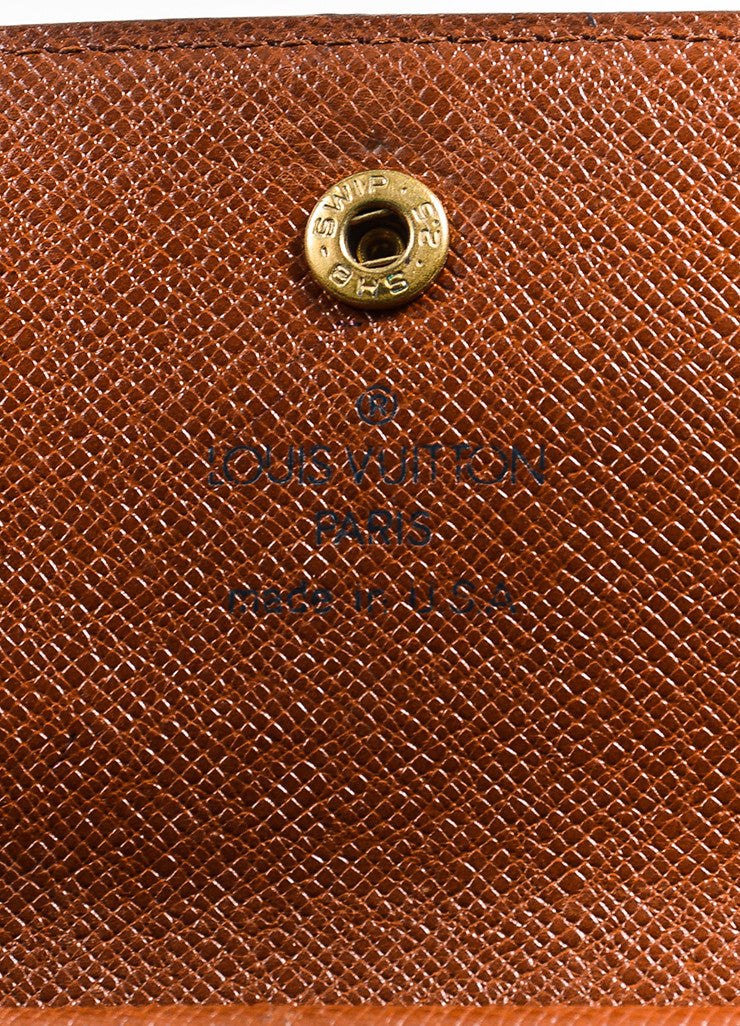 "Brown Louis Vuitton Canvas ""Porte-Tresor International"" Wallet Brand"