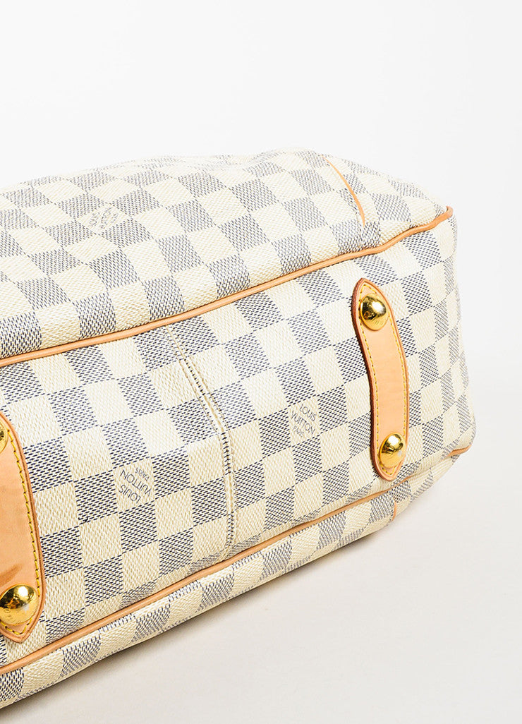 "Louis Vuitton Damier Azur Coated Canvas ""Galliera PM"" Slouchy Shoulder Bag Bottom View"