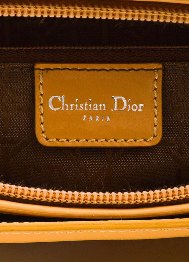 Tan Christian Dior Leather Two Way Tote Bag Brand