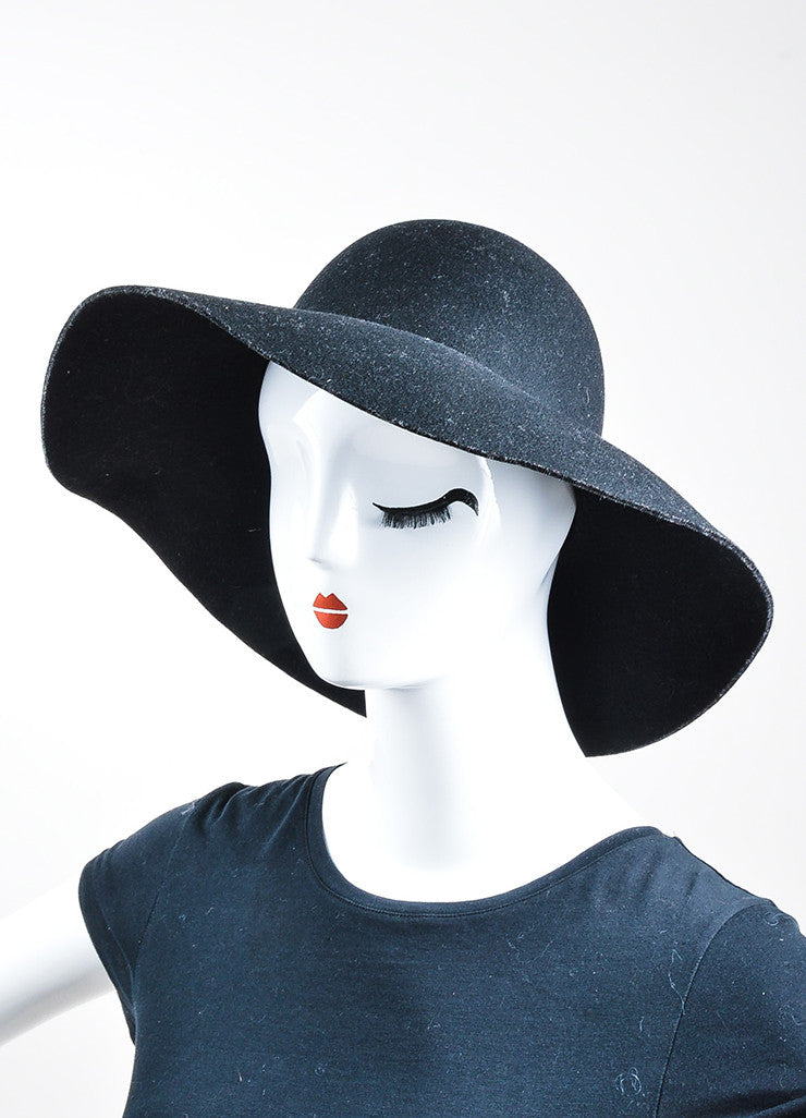 Coal Headwear Black Wool Felt Floppy Brim Hat Sideview