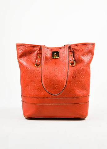 "Louis Vuitton Red Empreinte Leather Monogram ""Citadine PM"" Tote Bag Frontview"