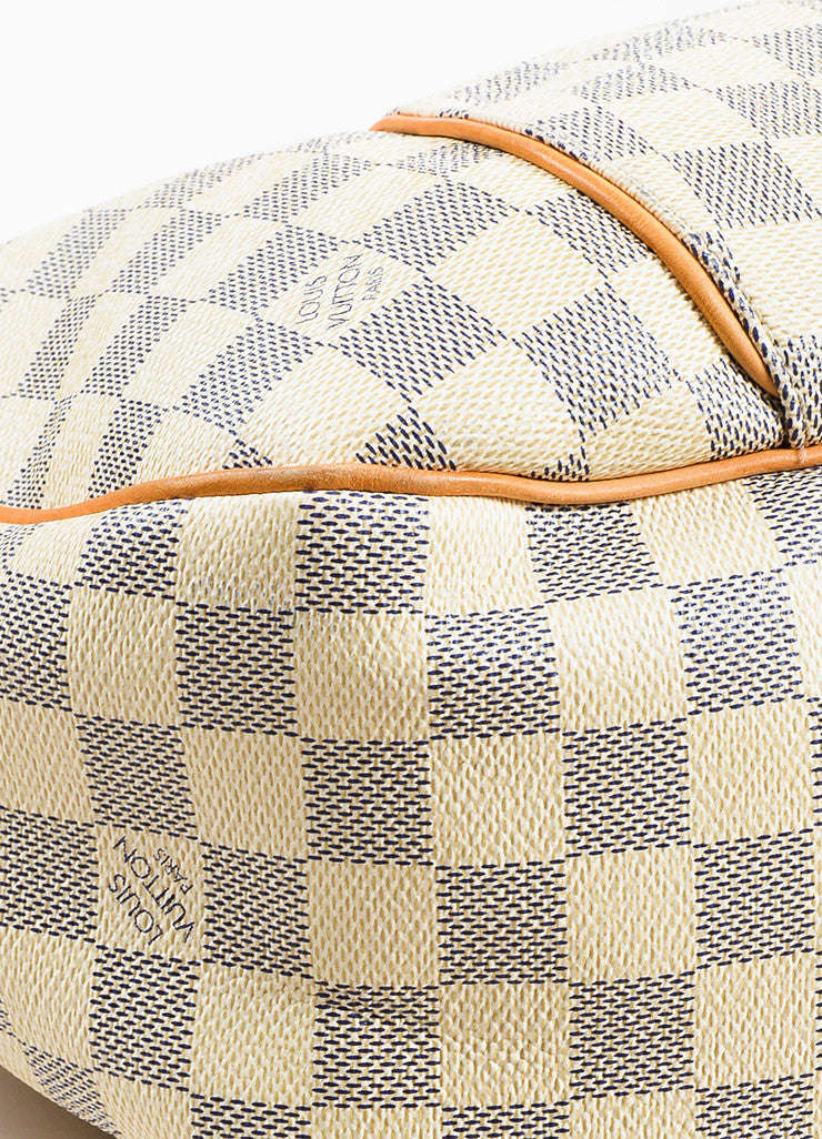 "Louis Vuitton Damier Azur Coated Canvas ""Galliera PM"" Slouchy Shoulder Bag Detail"