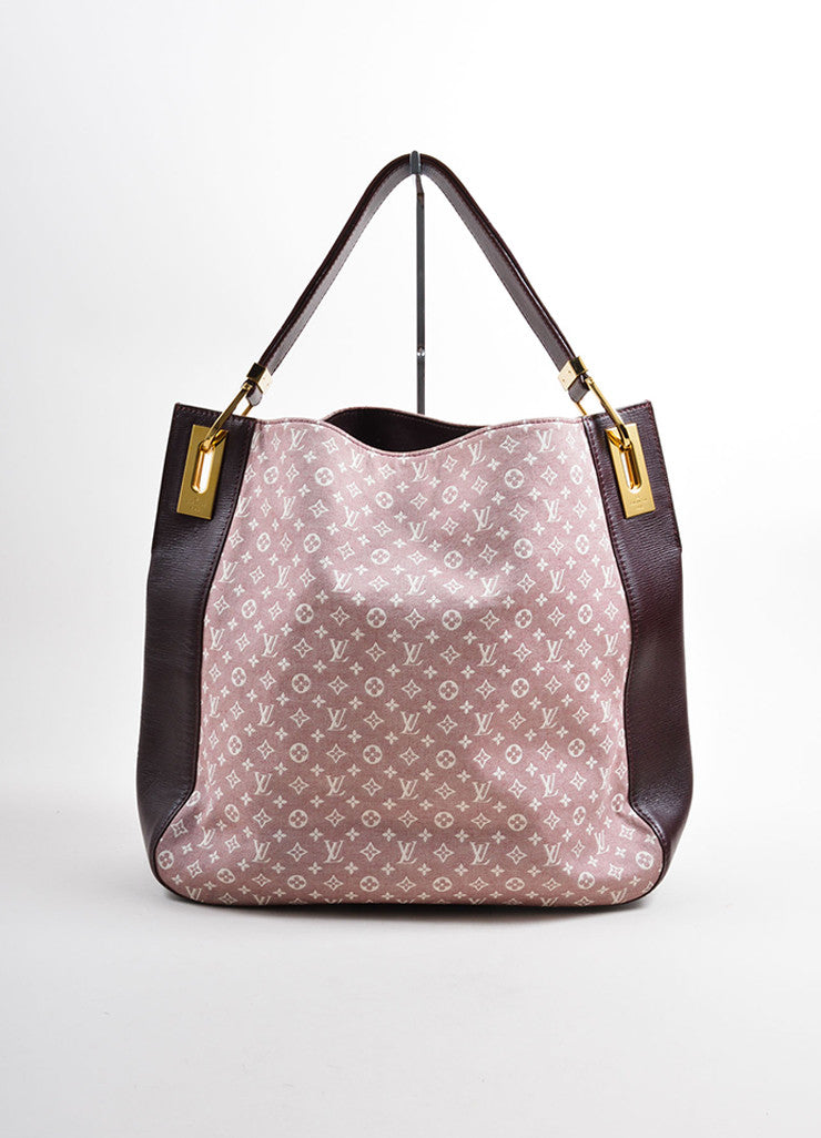 "Louis Vuitton Red and White Idylle Canvas Monogram ""Rendez-Vous PM"" Tote Bag Frontview"