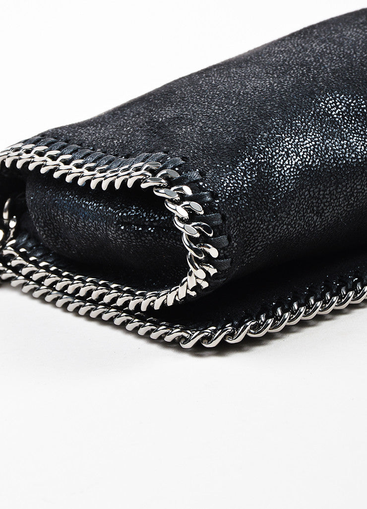 "Stella McCartney Black ""Falabella Shaggy Deer"" Crossbody Pochette Detail"