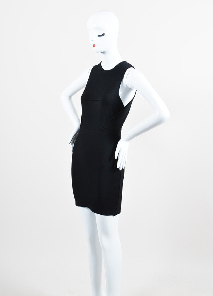 Alexander Wang Black Knit Overlay Bodice Sleeveless Bodycon Dress Sideview