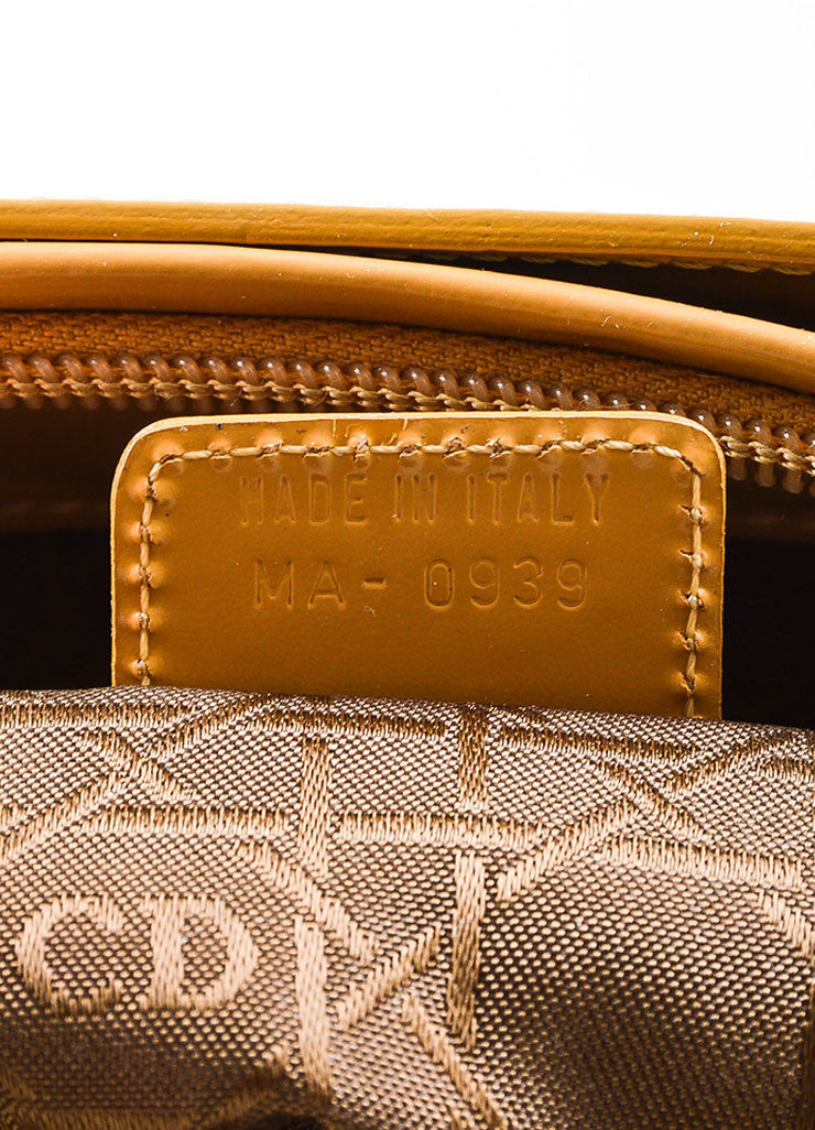 Tan Christian Dior Leather Two Way Tote Bag Serial