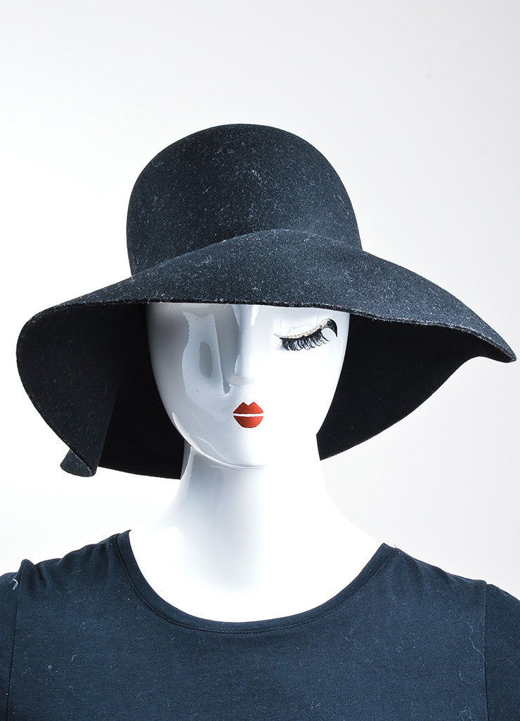 Coal Headwear Black Wool Felt Floppy Brim Hat Frontview