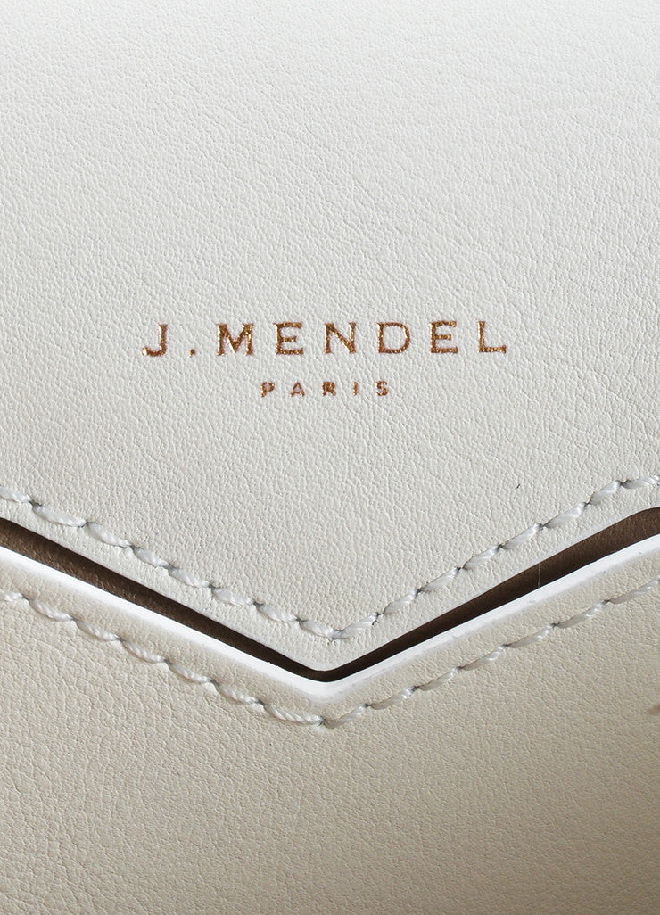 "J. Mendel Black and White Leather Flap Top ""Midi Clutch"" Cross Body Bag Brand"
