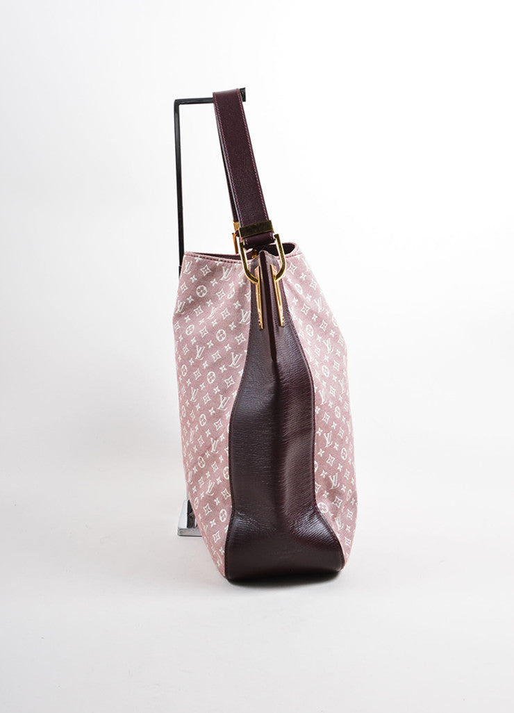 "Louis Vuitton Red and White Idylle Canvas Monogram ""Rendez-Vous PM"" Tote Bag Sideview"