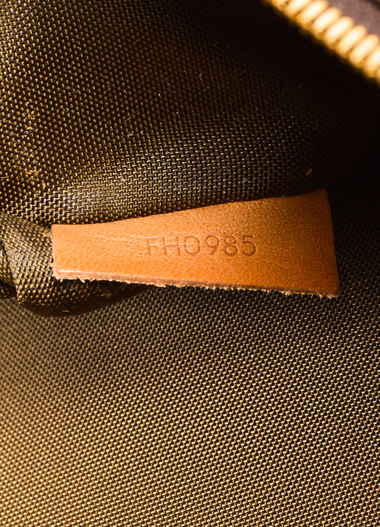 "Louis Vuitton Brown Monogram Canvas ""Garment Carrier Bag"" Date Code"