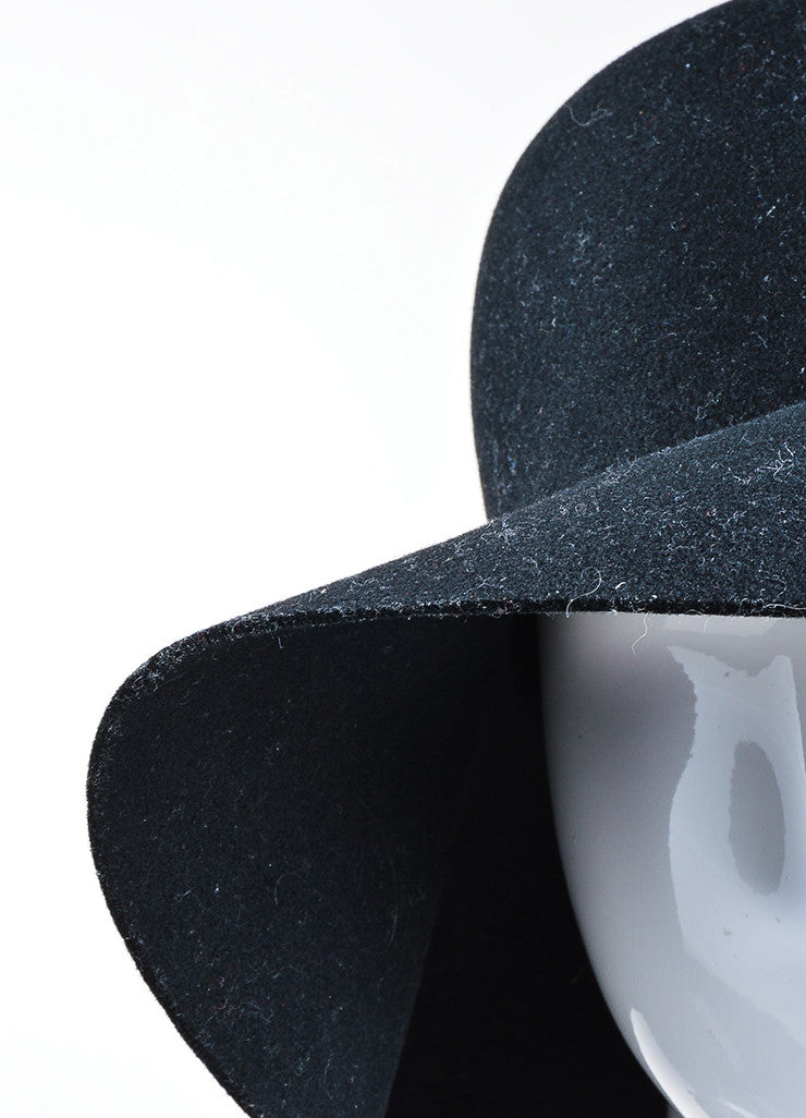 Coal Headwear Black Wool Felt Floppy Brim Hat Detail
