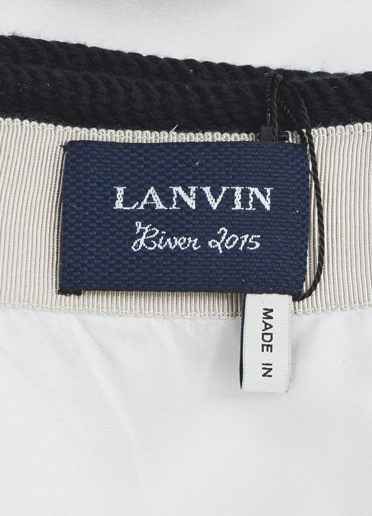 "Pink and Navy Blue Lanvin Wool and Silk Rope ""Jupe"" Wrap Skirt Brand"