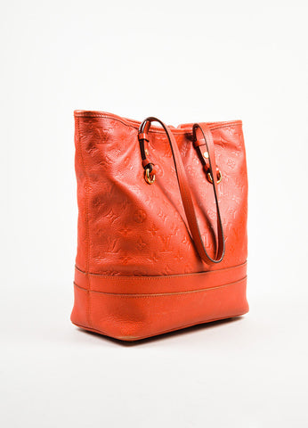 "Louis Vuitton Red Empreinte Leather Monogram ""Citadine PM"" Tote Bag Sideview"