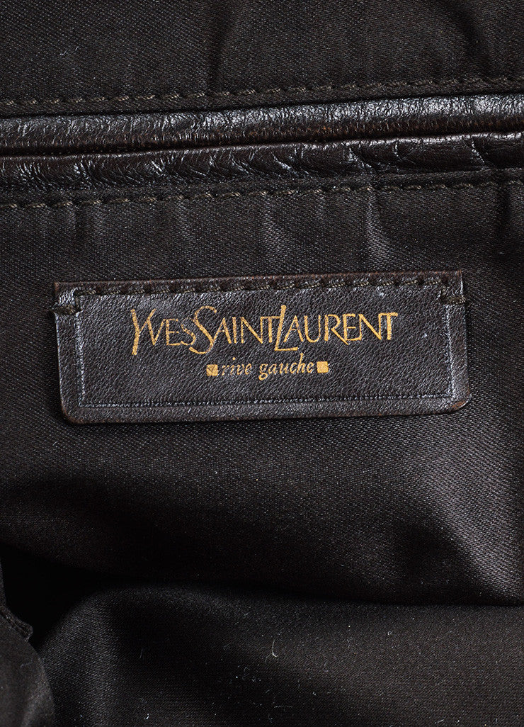 "Yves Saint Laurent Dark Brown Leather ""Muse"" Tote Bag Brand"