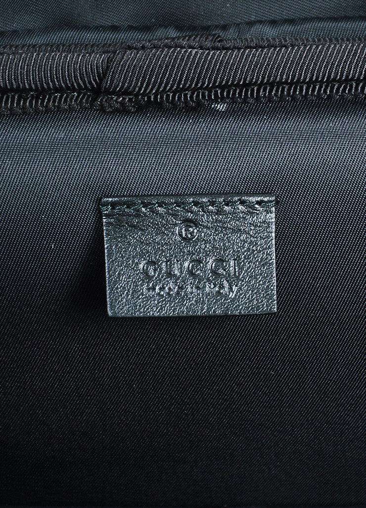 "Gucci Black Stripe Fabric 4 Wheel ""Techno"" Carry On Luggage Suitcase Brand"