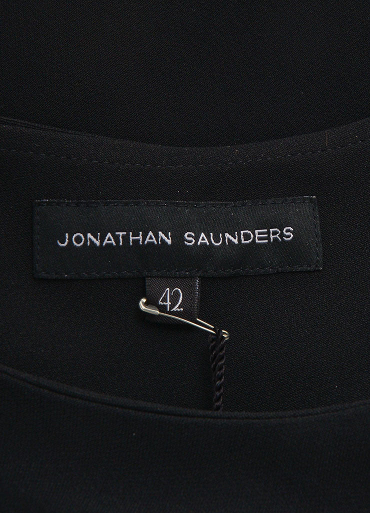 Jonathan Saunders New With Tags Black and Teal Wool Sleeveless A-Line Dress Brand