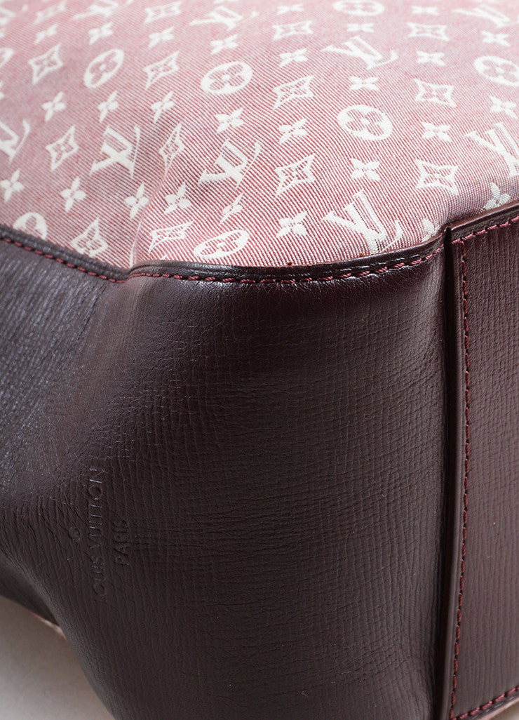 "Louis Vuitton Red and White Idylle Canvas Monogram ""Rendez-Vous PM"" Tote Bag Detail"