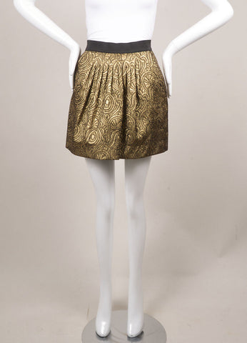 3.1 Phillip Lim Gold Brocade Mini Skirt Frontview