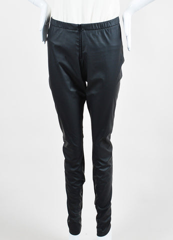 "Theyskens Theory Black Faux Leather ""Pittell"" Leggings"