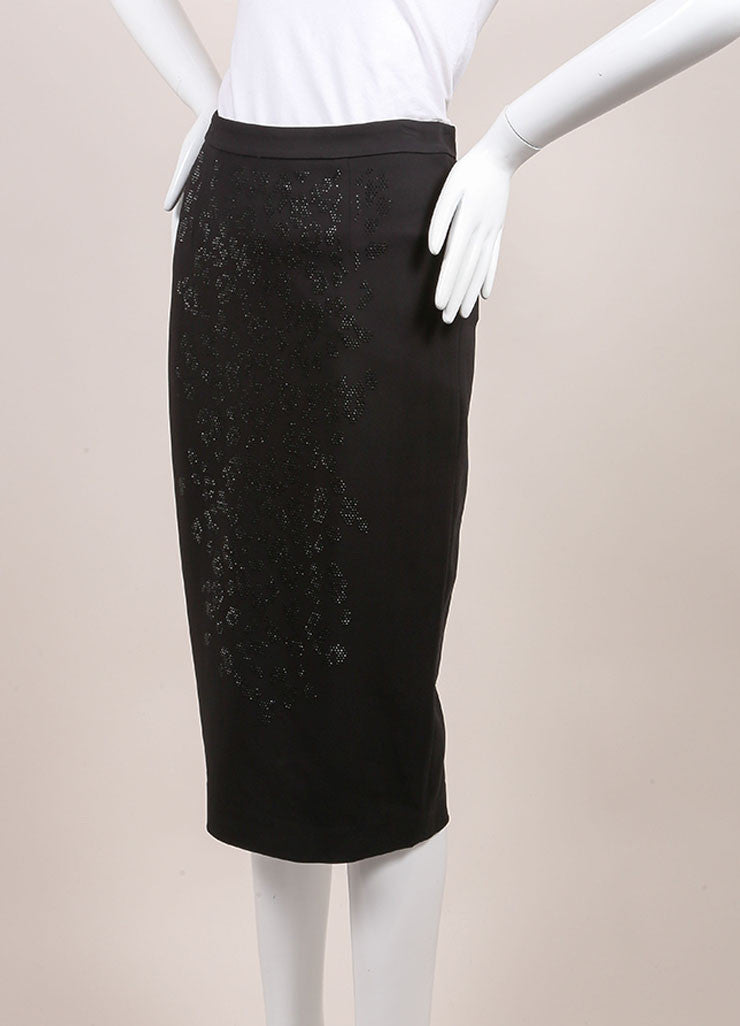 A.L.C. New With Tags Black Crystal Embellished Pencil Skirt Sideview
