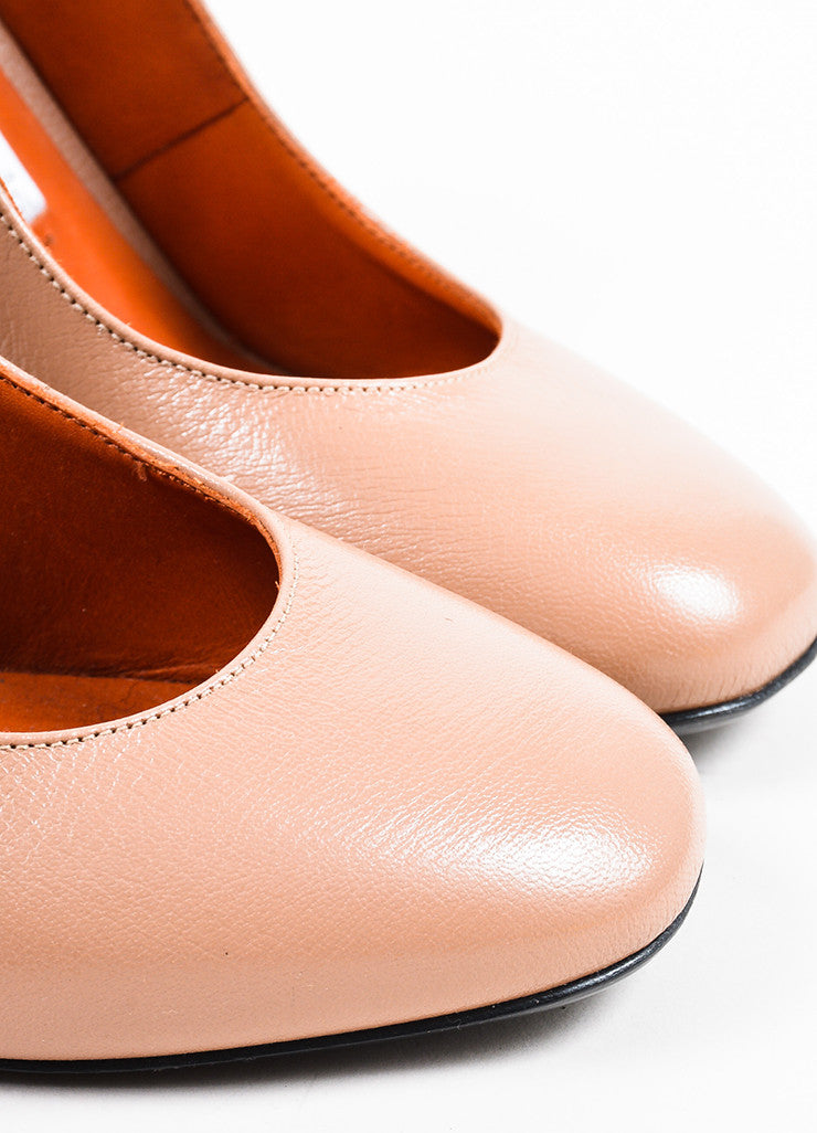 """Dusty Pink"" Acne Studios Leather Copper ""Odelia"" Slingback Pumps Detail"